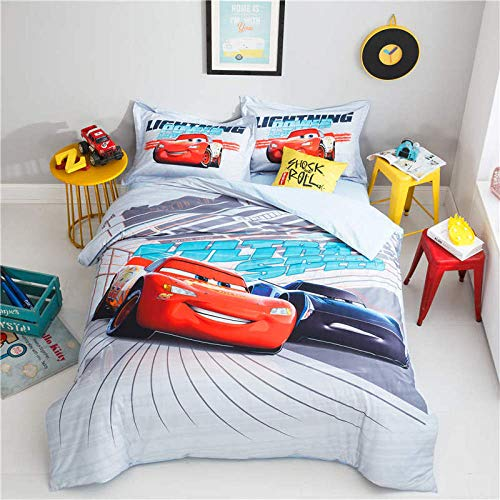 Rnvvaceo Cartoon anime character Printed Duvet Cover Super King size 3D Girls Bedding Sets, Soft Microfiber Bedding Decorative 3 Piece with 2 Pillowcases, 260 x 230 cm, Boy bedding
