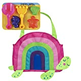 Stephen Joseph Beach Totes with Sand Toy Play Set, Turtle