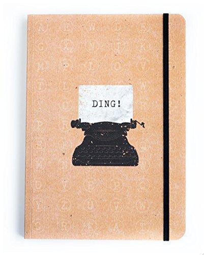 Cuaderno de escritor, tamaño A5Páginas pautadas.Cierre elástico.De Notebook...