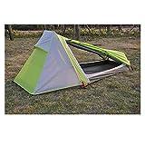 YSJJYQZ Tienda de campaña Genuino Ultra luz al Aire Libre Camping montañismo al Aire Libre al Aire Libre Capa de aleación de aleación de Aluminio de Doble Capa (Color : Green Grey)