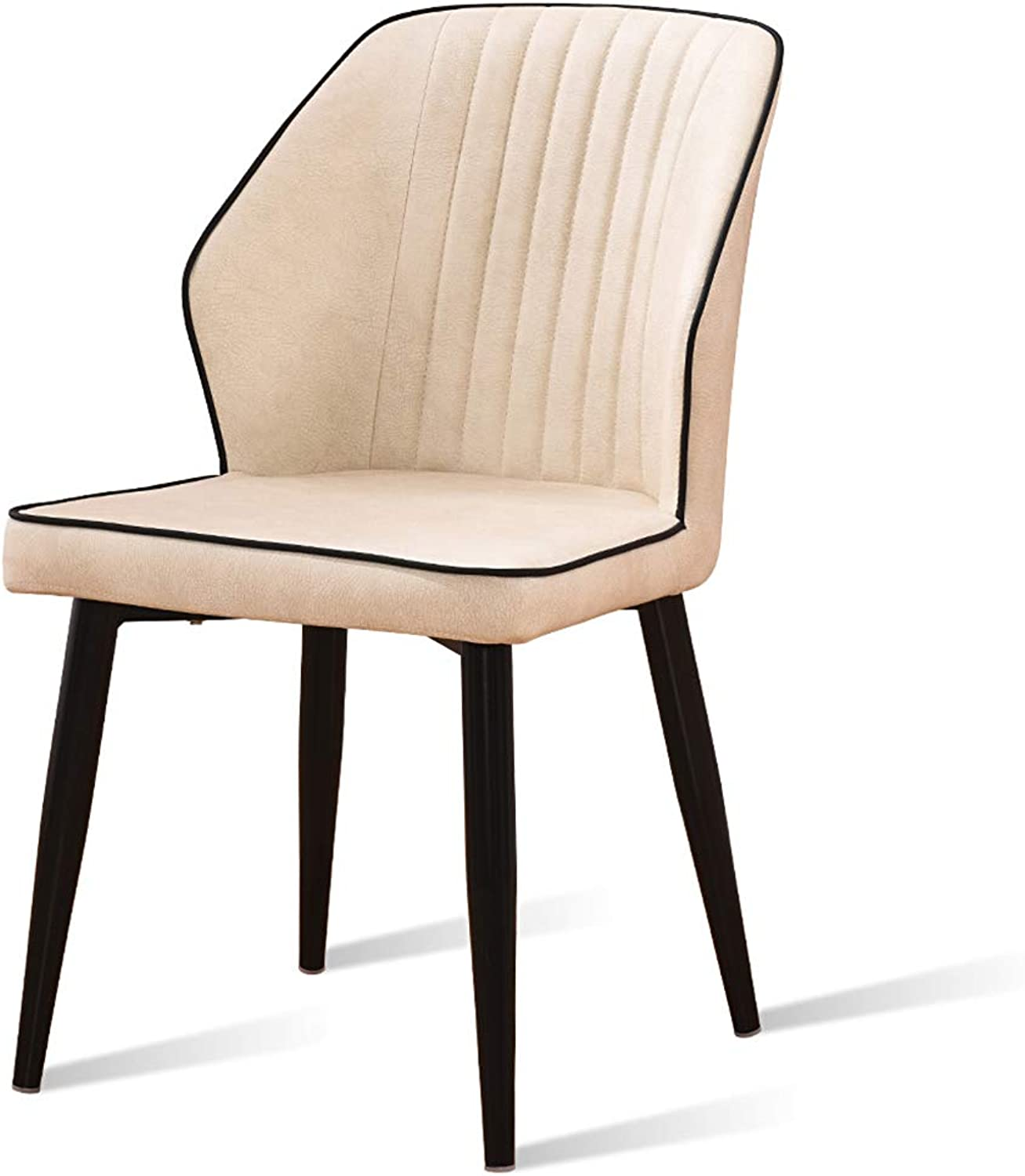 Industrial Wind Iron Dining Chair, Coffee Chair, Easy to Clean Technology Leather + High Resilience Sponge Filling, for Restaurant Office Counter Family