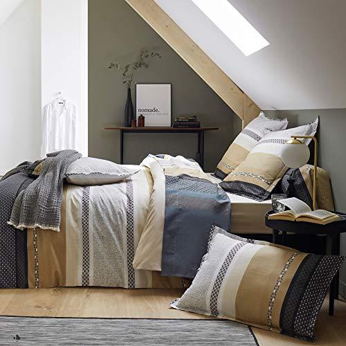 Juego de cama de 280 x 240 cm, percal 100% algodón Marlow de 3 piezas