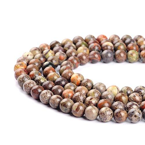 Ruilong Perles rondes colorées en agate océan pour la fabrication de bijoux - 4 mm, 6 mm, 8 mm, 10 mm, 12 mm (8 mm)
