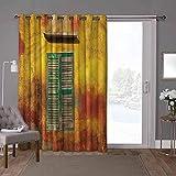 YUAZHOQI cortinas aisladas para puerta corredera, persianas, ventana de madera antigua, 100 x 108 pulgadas de ancho cortinas de puerta de cristal para ventana (1 panel)