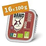 DANO Bio Pastete für Katzen mit Rind - 16 x 100 gr - für Katzen Aller Rassen und Altersgruppen - Getreidefrei - Frei von Künstlichen...