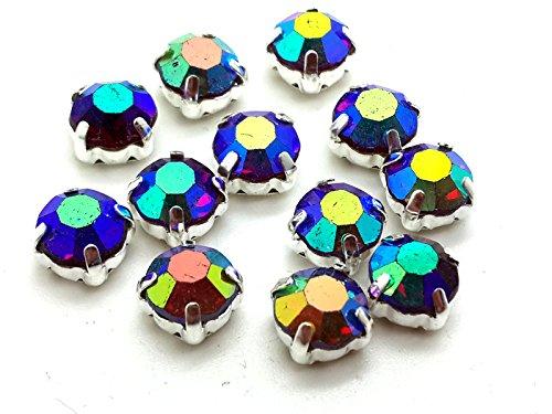 Piedras de cristal de color plata y dorado, diamantes de imitación, de...