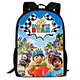 SBXDIO Ryan Toy Reviews School Backpacks 3D Printed Bookbags Daypack Shoulder Lightweight Bag Laptop, Fashion Large Capacity Casual Travel Bag For Kids/Students/Children