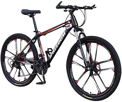 DALUXE Dirt Bike VTT Vélo De Course Hommes Vélo 21 Vélo VTT Filles Vitesses Pouces Étudiant 26 Extérieur,Rouge
