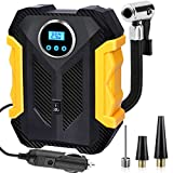Aybe Digital Tyre Inflator, Car Tire Pump, 12V Portable Air Compressor Pump, 150 Psi Auto Portable Car Tire Inflator Pump with LED Light and Tyre Pressure Checking for Car tires,bike and Inflatables