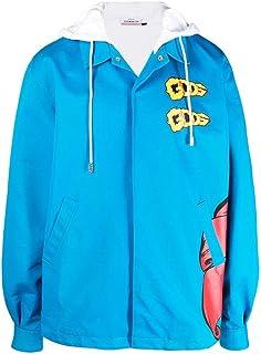 GCDS Luxury Fashion Uomo SS21M04010758 Azzurro Cotone Giacca Outerwear | Ss21
