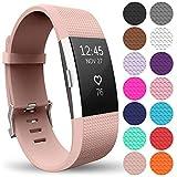 Yousave Accessories Bracelet De Rechange Compatible pour Fitbit Charge 2, Sangle De Remplacement pour Le Fitbit Charge 2 - Petit - Or Rose