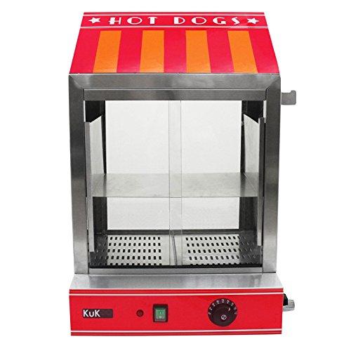 KuKoo - Máquina Eléctrica de Vapor para Perros Calientes de Acero...
