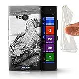 Hülle Für Nokia Lumia 730 Zoo-Tiere Krokkodil/Alligator