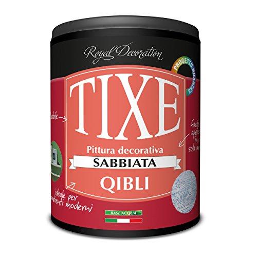 Tixe 624.701 Qibli Finitura Decorativa Effetto Sabbiato, Vernice, Argento, 01 Lt