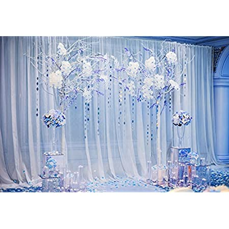 Laeacco 10x6.5ft Crystal Beads String Colorful Rose Flowers Backdrop for Photography Vinyl Romantic Wedding Photo Background Wedding Ceremony Decoration Bridal Shower Newlywed Portraits Shooting