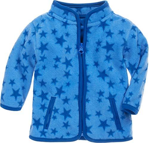 Schnizler Schnizler Unisex Baby Jacke Fleece Sterne, Blau (Blau 7), 56