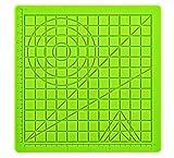 DERUC 3D lápices de silicona mate, para dibujar creativo, plantilla de silicona con plantillas de base para niños y principiantes, 2 protectores de dedos, verde (17,7 x 17,7 x 0,3 cm)