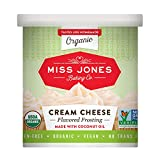Miss Jones Baking Organic Buttercream Frosting, Perfect for Icing and Decorating, Vegan-Friendly: Cream Cheese (Pack of 1)