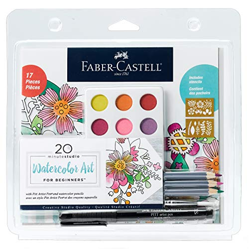 Faber-Castell Creative Studio Watercolor Art for Beginners - Create Floral Watercolor Designs