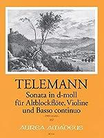 TELEMANN - Sonata a Tre en Re menor (TWV:42/D10) para Flauta de Pico Alto, Violin y BC (P/PT)