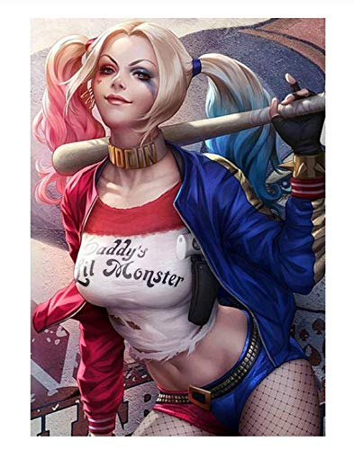 H/F Raptor Clown Poster su Poster di Alta qualità su Tela Pittura Wall Art Poster Decorazione della Casa Senza Cornice (15,7 X 19,6 Pollici) G8383