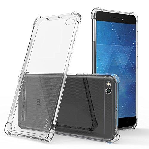 JundD Kompatibel für Xiaomi Redmi 4A Hülle, [Eckpolster] [Leichtgewichtig] [Ultra-Durchsichtig] Stoßfest Schützend Dünn Silikon Stoßschutzhülle für Xiaomi Redmi 4A - Transparent