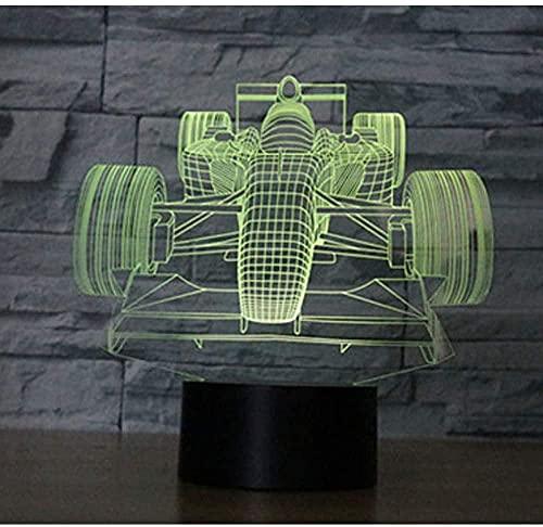 Luces De Ilusión 3D Led Lámpara De Mesa Luces Coche De Juguete 7 Colores Touch Sensor Lámpara Cargador Usb Dormitorio Decoración Regalo De Cumpleaños Para Niños