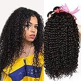 CLAROLAIR Brasilianische Haare Brazilian Curly Human Hair Bundles Brazilian Hair 3 Bundles Brasilianische Menschliche Haare Echthaar Weave total 300g (10 12 14 Inch)