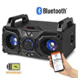 Fenton MDJ95 Portable Bluetooth Party Speaker Boombox with Built-in Battery USB MP3 100w