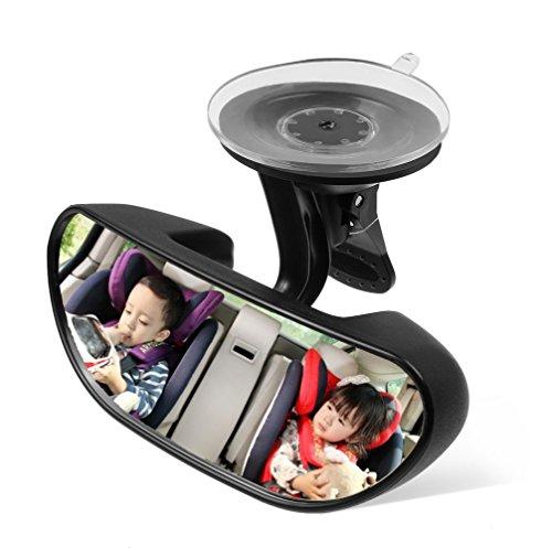 AIPROV Baby autospiegel zuignap, achteruitrijcamera baby spiegel achterbank spiegel voor de auto eenvoudig om de baby 's 's elke beweging, veiligheid en groothoek 360 graden draaibaar