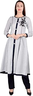 Ss Story Latest Fashion Women's Silver Dot Anarkali Dress With Plazzo Set Hand and Machine Embroidery Colour-Beidge