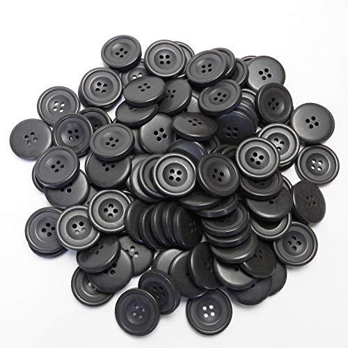 こげ茶色系ボタン 23mm 4穴 コート フロントボタン 最適 100個入り MA1010-23-DBR-021