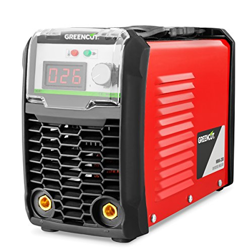 Greencut MMA-200 Saldatrice Inverter DC MMA 200Amp iGBT Turboventilized display LCD, Rosso,...