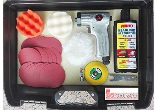 Suministros Ind Orozco Kit Mini Pulidora Neumática de Faros y Retoques Automovil
