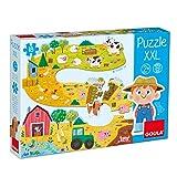 Goula- Puzzle XXL Granja - Puzzle de carton de piezas grandes para niños a partir de 2 años