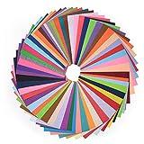 HellDoler Filzstoff, 60 Farbig Filz Stoff Filzplatten für