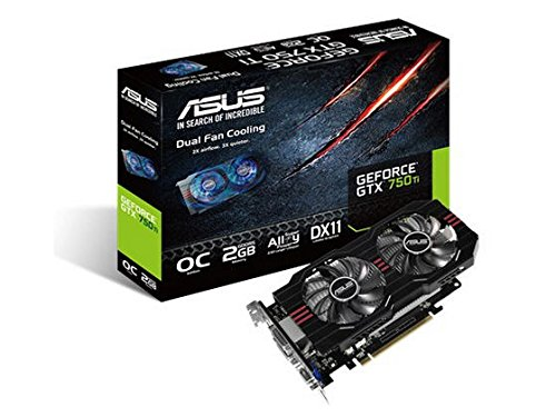 Asus Nvidia GeForce GTX750TI-OC-2GD5 Grafikkarte (PCI-e, 2GB GDDR5 Speicher, HDMI, DVI, VGA, 1 GPU)