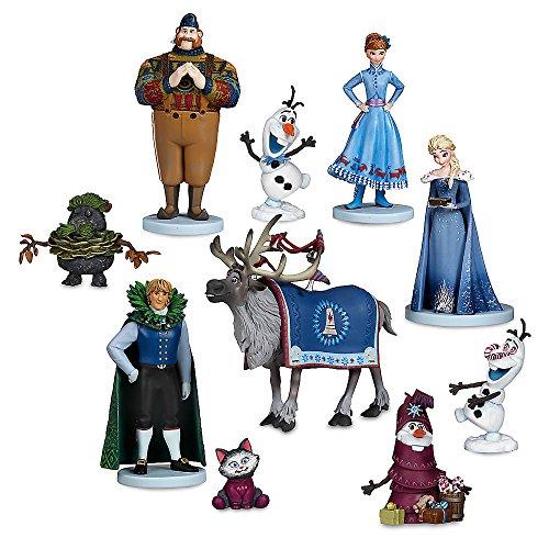 Disney Lote 10 Personajes PVC Frozen Aventura Olaf