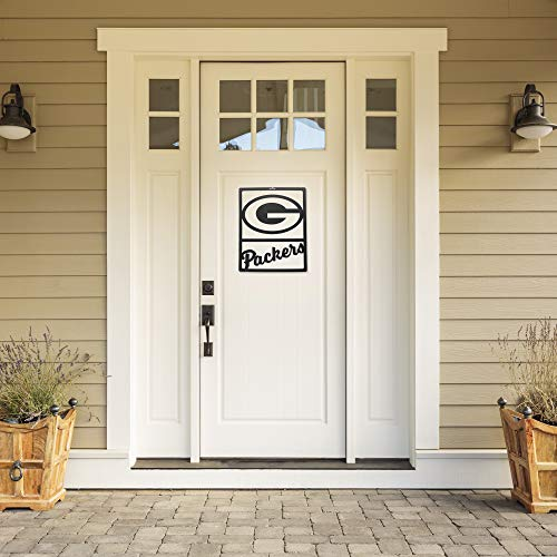 Littlearth NFL Green Bay Packers Unisex NFL Green Bay Packers Metal Team Sign, Black, 14