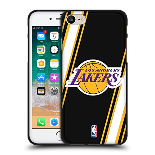 NBA Stripes Los Angeles Lakers 2 - Custodia morbida in gel per Apple iPhone 7/iPhone 8/iPhone SE 2020, colore: Nero