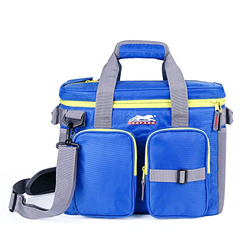 Leopard Outdoor 24 Can Soft Insulated Cooler Bag with Adjustable Shoulder Strap