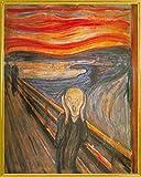 1art1 Edvard Munch Poster Kunstdruck und Kunststoff-Rahmen