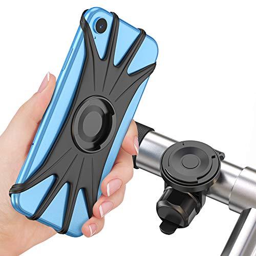 Cocoda Soporte Movil Bici, Soporte Móvil Moto Bicicleta 360° Rotación Magnética Desmontable [Pantalla Completa Amigable] Porta Movil Motocicleta Manillar Accessories para 4.0'' - 6.5'' Teléfon
