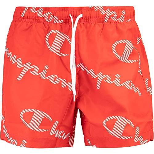 Champion Allover Swimshorts Badeshorts (L, red)