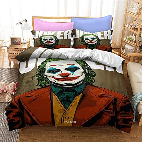 Probuk Marvel Joker Avenger Juego de ropa de cama de microfibra para niños y adolescentes (A-03,135 x 200 cm (80 x 80 cm)
