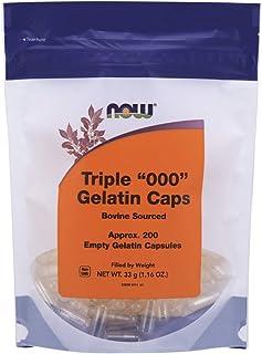 Now Foods, Size Triple (000) Gelatin Caps, 200 Empty Gelatin Capsules, NET WT 33 gm