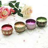 Omabeta Velas perfumadas de jazmín Velas perfumadas portátiles Velas perfumadas de Gardenia Cumpleaños