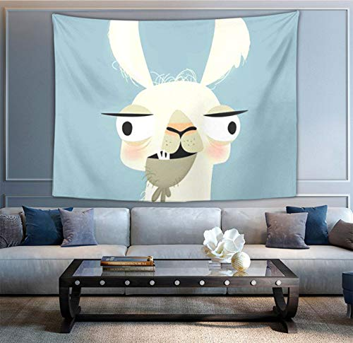 NiYoung Cartoon Kid Llama Wall Tapestry Hippie Art Tapestry Wall Hanging Home Decor Extra Large tablecloths 60x70 inches for Bedroom Living Room Dorm Room