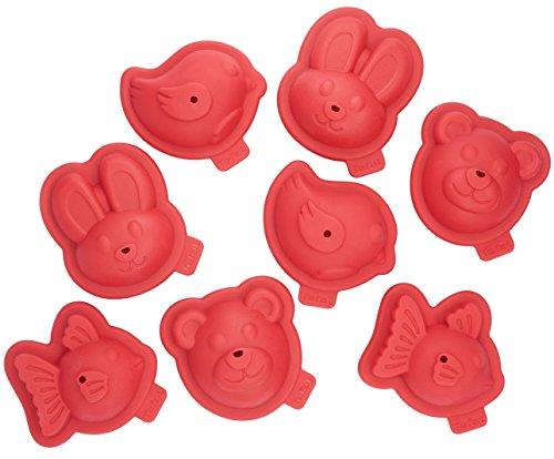 Tefal J409S814 Proflex Kit 8 Moules Patisserie Forme Animaux 3D Rouge