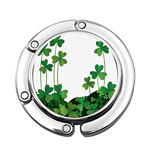 St. Patricks Day Clover Printing Custom Varios diseños Patrón Bolso de Hombro Bolso Plegable Gancho para Colgar